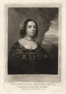 Anne (née de Vere), Lady Fairfax, by Charles Turner, after  Gilbert Soest - NPG D1923