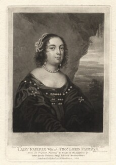 Anne (née de Vere), Lady Fairfax, by Charles Turner, after  Gilbert Soest - NPG D1924