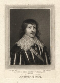 Lucius Cary, 2nd Viscount Falkland, by Charles Turner, after  Cornelius Johnson, published 1811 - NPG D1925 - © National Portrait Gallery, London