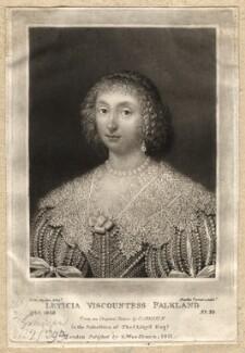 Lettice Cary (née Morison), Viscountess Falkland, by Charles Turner, published by  Samuel Woodburn, after  Cornelius Johnson (Cornelius Janssen van Ceulen) - NPG D1929