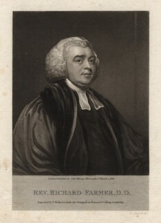 Richard Farmer, by Thomas Hodgetts, after  George Romney - NPG D1932