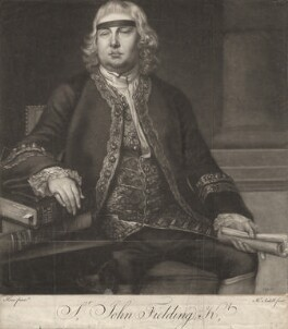 Sir John Fielding, by James Macardell, after  Nathaniel Hone, (1762) - NPG D1947 - © National Portrait Gallery, London