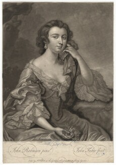 Lady Charlotte Finch (née Fermor), by and sold by John Faber Jr, after  John Robinson - NPG D1949