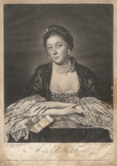 Kitty Fisher, by Edward Fisher, published by  Thomas Ewart, published by  Robert Sayer, after  Sir Joshua Reynolds, published 17 July 1759 - NPG D1951 - © National Portrait Gallery, London