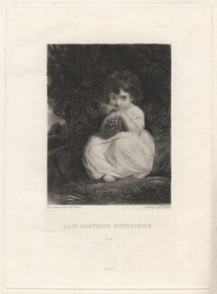 Lady Gertrude Fitzpatrick, by Samuel William Reynolds, after  Sir Joshua Reynolds, 1820 or after (1777-1778) - NPG D1961 - © National Portrait Gallery, London