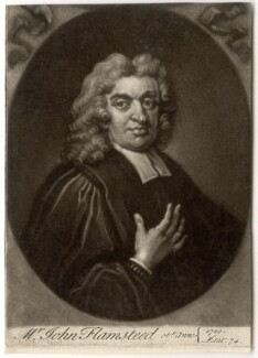 John Flamsteed, by John Simon, after  Thomas Gibson - NPG D1965
