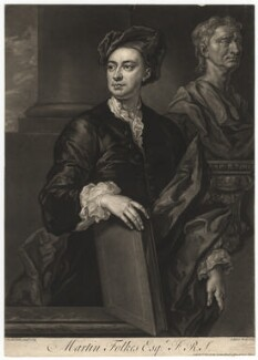 Martin Folkes, by John Faber Jr, after  John Vanderbank - NPG D1974