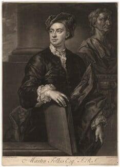 Martin Folkes, by John Faber Jr, after  John Vanderbank, 1737 (1736) - NPG D1975 - © National Portrait Gallery, London