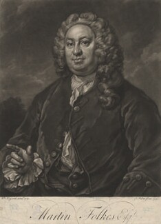 Martin Folkes, by John Faber Jr, after  William Hogarth - NPG D1976