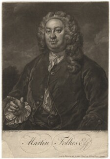 Martin Folkes, by John Faber Jr, after  William Hogarth - NPG D1977