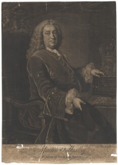 Martin Folkes, by James Macardell, after  Thomas Hudson - NPG D1978