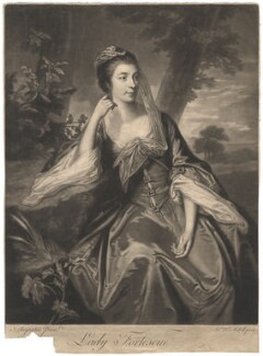 Ann Fortescue (née Campbell), Lady Fortescue, by James Macardell, after  Sir Joshua Reynolds - NPG D1983