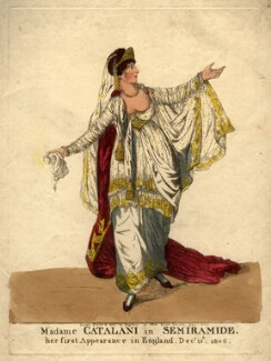 Angelica Catalani ('Madame Catalani in Semiramide'), by and published by Robert Dighton - NPG D2026