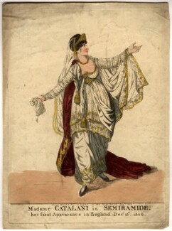 Angelica Catalani ('Madame Catalani in Semiramide'), by and published by Robert Dighton - NPG D2028