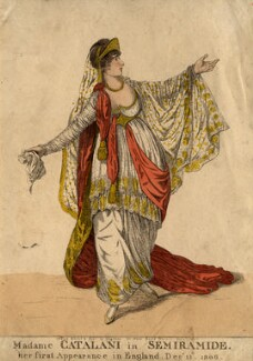 Angelica Catalani ('Madame Catalani in Semiramide'), by and published by Robert Dighton - NPG D2029