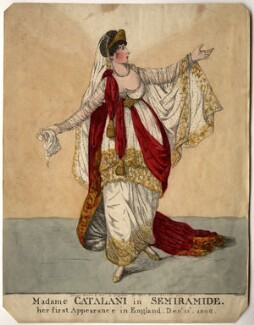 Angelica Catalani ('Madame Catalani in Semiramide'), by and published by Robert Dighton, published December 1806 - NPG D2031 - © National Portrait Gallery, London