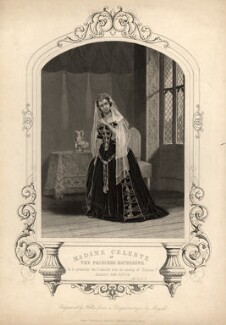 Madame Céleste (Céline Céleste) as Princess Katharine in 'Henry V', by T. Hollis, published by  John Tallis & Company, after a daguerreotype by  John Jabez Edwin Mayall - NPG D2036