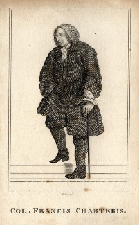 Francis Charteris, by Robert Graves, after  William Hogarth - NPG D2055