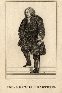 Francis Charteris, by Robert Graves, after  William Hogarth - NPG D2056