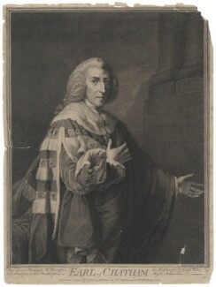 William Pitt, 1st Earl of Chatham, by John Keyse Sherwin, after  Richard Brompton - NPG D2057