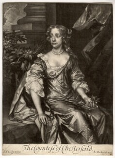 Elizabeth Stanhope (née Butler), Countess of Chesterfield, by Isaac Beckett, after  Sir Peter Lely - NPG D2064
