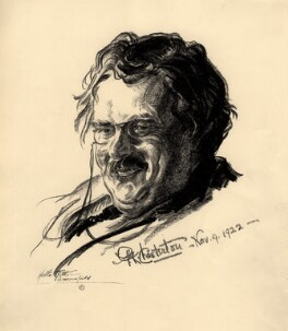 G.K. Chesterton, by Walter Tittle - NPG D2068