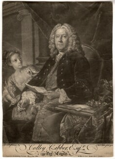 Colley Cibber, by Edward Fisher, printed for  John Spilsbury, after  Jean Baptiste van Loo, 1758 (1740) - NPG D2075 - © National Portrait Gallery, London