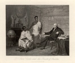 Dr Adam Clarke and the Priests of Buddha, probably by John Henry Robinson, published by  Fisher Son & Co, after  Alexander Mosses - NPG D2083