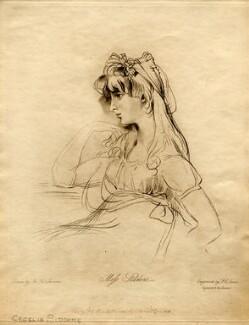 Sarah Martha ('Sally') Siddons, by Frederick Christian Lewis Sr, after  Sir Thomas Lawrence - NPG D2098