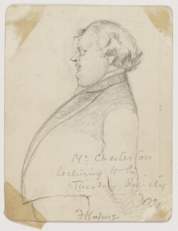 G.K. Chesterton, by Florence Holms - NPG D2107