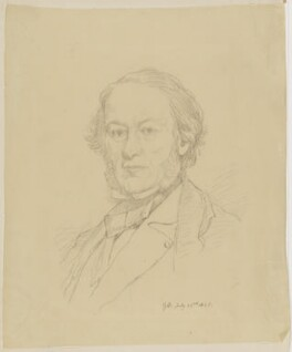 Richard Cobden, by Sir George Scharf, after  Lowes Cato Dickinson - NPG D2112