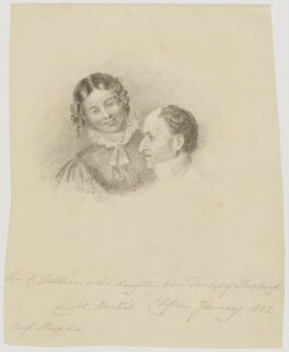 Susanna Stephania (Dalbiac), Duchess of Roxburghe; Sir James Charles Dalbiac, possibly by Rolinda Sharples - NPG D2131