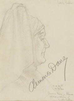 Clemence Dane, by Stanley H. Gill - NPG D2133