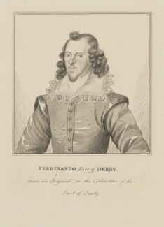 Ferdinando Stanley, 5th Earl of Derby, by Silvester (Sylvester) Harding - NPG D2139