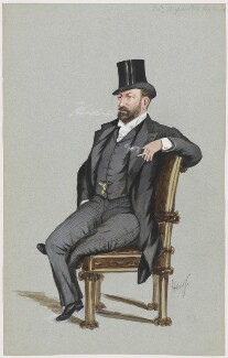 Sir Augustus Henry Glossop Harris, by 'Hay' - NPG D2195