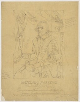 William Harvey, by Sir George Scharf, after  R. Gaywood - NPG D2198