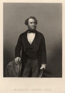 Michael Costa, by Daniel John Pound, after a photograph by  John Jabez Edwin Mayall - NPG D2216