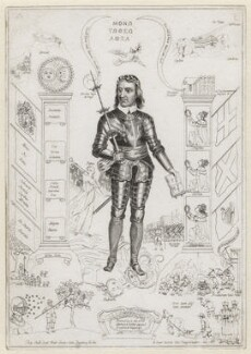 'The Emblems of England' (Oliver Cromwell), attributed to William Faithorne, after  Francis Barlow, after  Unknown artist - NPG D2233