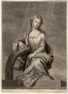 Mrs Cross as St Catherine, by John Smith, after  Sir Godfrey Kneller, Bt - NPG D2238