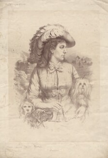 Ouida (Marie Louise de la Ramée), by Unknown engraver - NPG D2261