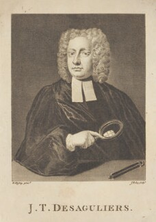John Theophilus Desaguliers, by James Tookey, after  Hans Hysing - NPG D2264