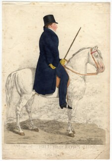 Arthur Trumbull Hill, 3rd Marquess of Downshire ('A view of Hill near Downshire'), by and published by Richard Dighton, reissued by  Thomas McLean, published 1817 - NPG D2282 - © National Portrait Gallery, London
