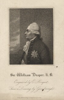 Sir William Draper, by E. Bocquet, after  Thomas Gainsborough - NPG D2285