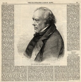 Edward Ellice, after an intermediary drawing by Thomas Dewell Scott, published by  Illustrated London News - NPG D2303
