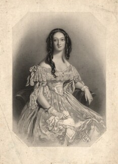 Katherine Jane Ellice (née Balfour), by William Henry Egleton, after  Alfred Edward Chalon - NPG D2305