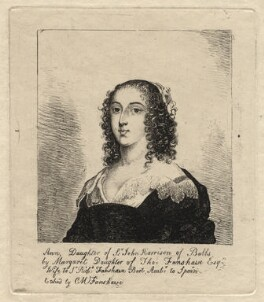 Ann (née Harrison), Lady Fanshawe, by Catherine Maria Fanshawe, after  Cornelius Johnson (Cornelius Janssen van Ceulen) - NPG D2324