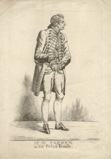 William Farren ('Mr William Farren as Sir Peter Teazle'), by and published by Richard Dighton, reissued by  Thomas McLean - NPG D2327