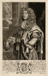 Thomas Belasyse, 1st Earl Fauconberg, by Robert White, after  Unknown artist - NPG D2332