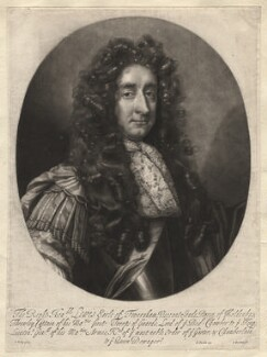 Louis Duras, 2nd Earl of Feversham, by Isaac Beckett, published by  John Smith, after  John Riley - NPG D2341