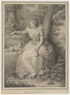 Maria Anne Fitzherbert (née Smythe), by Jean Condé, after  Richard Cosway - NPG D2345
